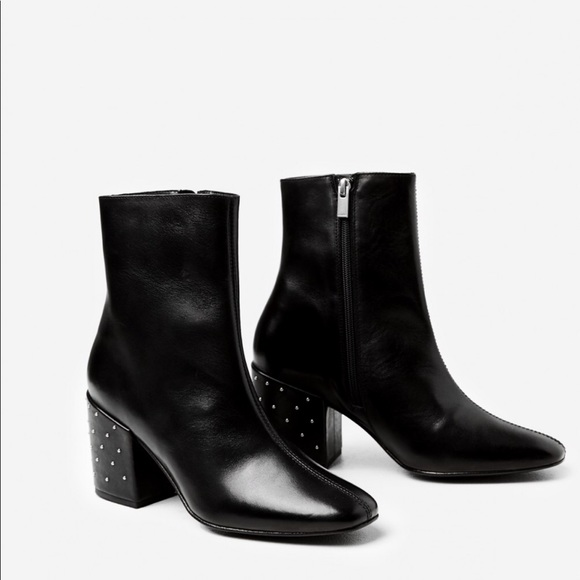 8862a38bf50 The Kooples Shoes | Smooth Black Leather Ankle Boot | Poshmark